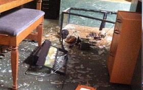 Aquarium destroyed by earthquake